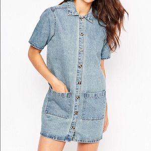 Asos Glamorous Denim Shirt Dress